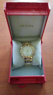 Reloj Guess Dorado Original Con Brillantes De Swarouski