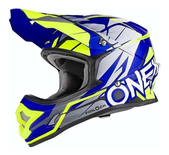 Casco Motocross Oneal 3 Series Freerider Con Cierre Fidlock