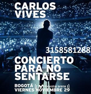 Boletas Carlos Vives Concierto Para No Sentarse - 29 De Nov