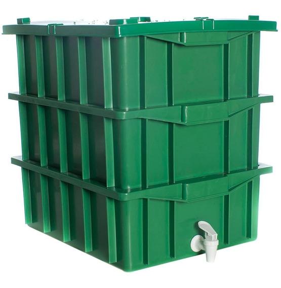 Composteira Doméstica Verde 15 Litros