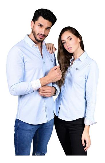Camisas Hombre O Mujer Portoblanco Parejas Azul Cielo