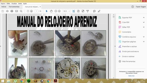 Manual Do Relojoeiro, Concerto Relógios Automático.