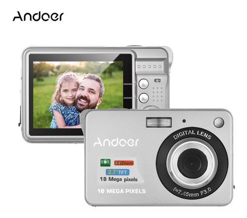 Cámara Digital Andoer Hd 720p 18m Con 2 Baterías