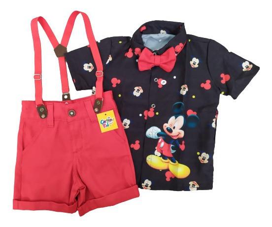 Conjunto Mickey Camisa Preta