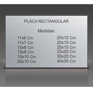 Placa Recordatoria, Homenaje, Aniversario. Para Lapida.15x8