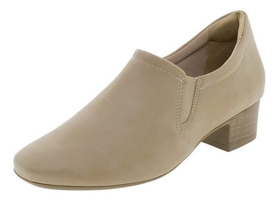 Sapato Feminino Salto Baixo Comfortflex - 1886305 Bege