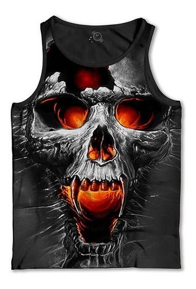 Regata Caveira Vampiro 3d Camiseta Regata Masculina