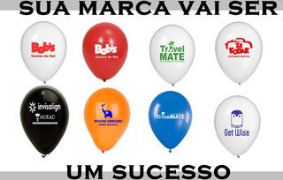 500 Balão/bexiga N°9 Estampado C/ Logomarca /personalizados
