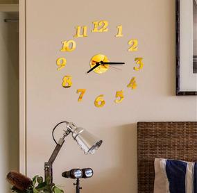 Relógio Parede Decoração Espelhado Quarto Num Ordinais 180