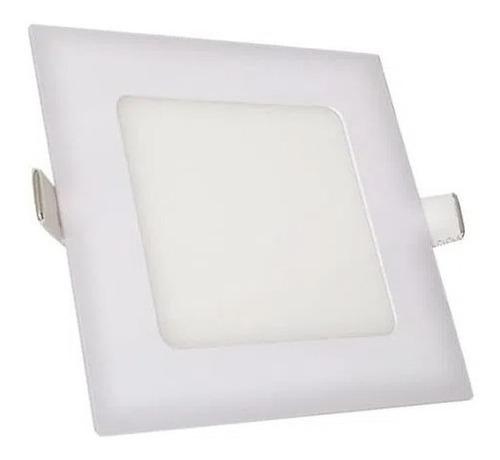 Imagen 1 de 6 de Plafon Led Embutir 6w Luz Fría Cuadrado X10