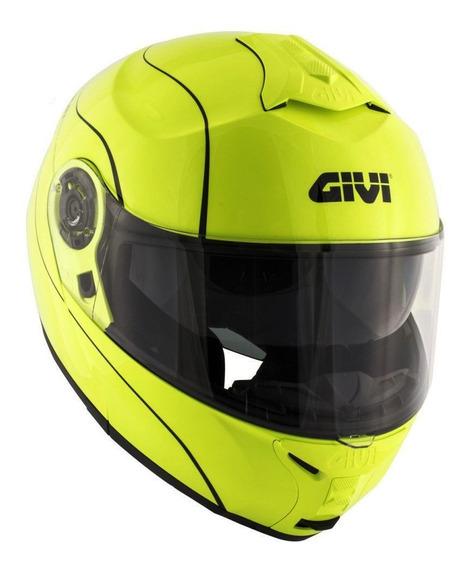 Capacete Givi X21 Graphic Amarelo Fluo / Preto 56 S