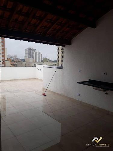 Cobertura Com 2 Dormitórios À Venda, 121 M² Por R$ 500.000,00 - Vila Valparaíso - Santo André/sp - Co0115