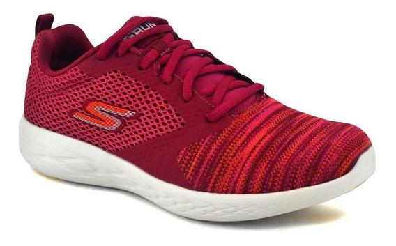Zapatilla Skechers Mujer Go Run 600 Running Rosa/naranja