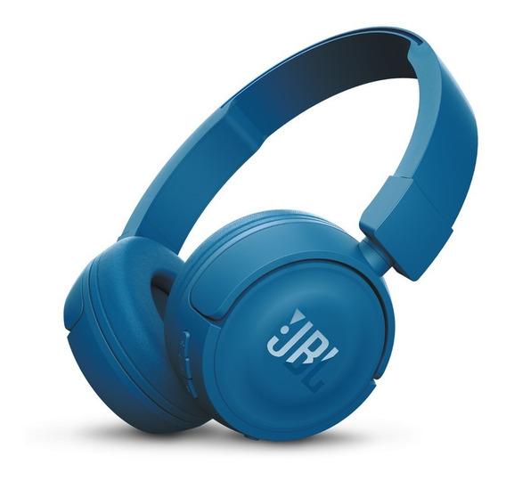 Fone Jbl T450bt Bluetooth Pure Bass Azul Original N. Fiscal