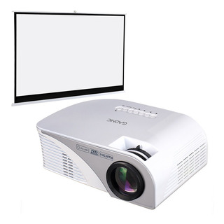 Kit Proyector + Pantalla 100 Gadnic Full Hd 1200 Lumens Tv