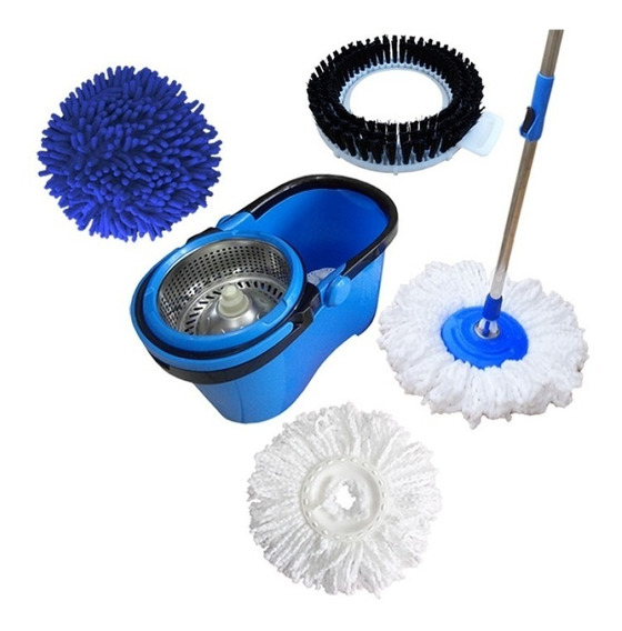 Balde Perfect Mop 360º Com 3 Refis - Mop Limpeza