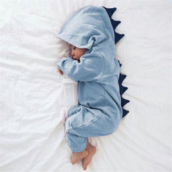 Macacão Dino Baby Roupa Roupinha Dinossauro Bebê Fantasia