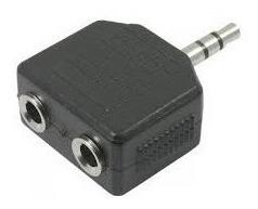 Kit 03 Unid. Adaptador P2 Stereo Macho P/ 2 P2 Femea J2