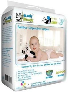Andy Pandy Biodegradables De Bambú Pañales Desechables,
