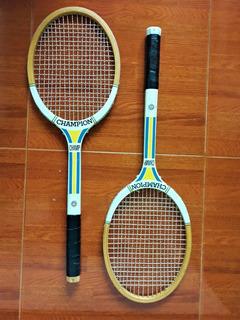 Raquetas Tenis Clásicas De Madera 100% Originales Champion