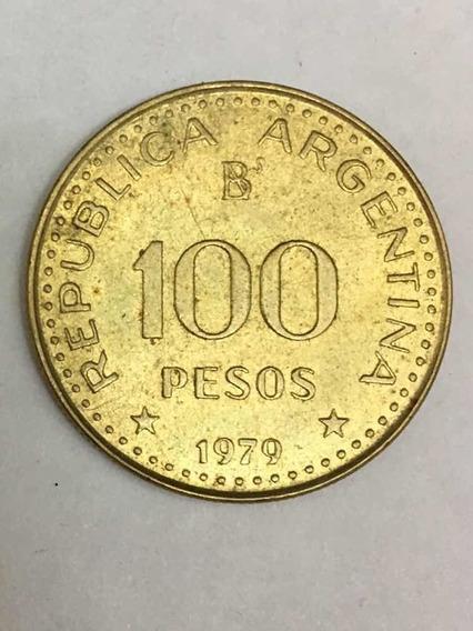 Lote X5 Monedas Arg. 100 Pesos 1979 / Conquista Del Desierto