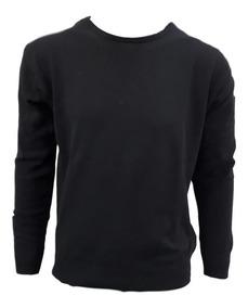 Blusa Suéter Masculino Gola Careca Savannah Tricot Algodão