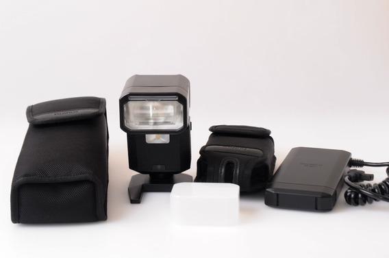 Flash Fujifim Ef-x500 Com Batery Pac Fujifilm Ef-bp1