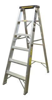 Escalera Aluminio Tijera 6 Pasos / 1.80 Metros 136 Kg