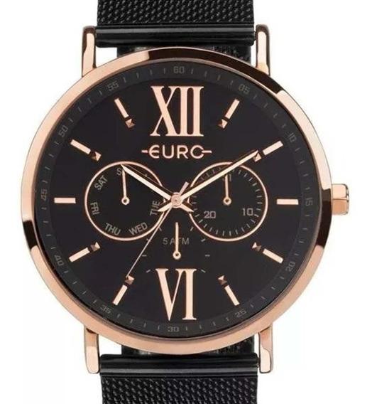 Relógio Euro Feminino Multifunção Preto Euvd75af/4p + Nf-e