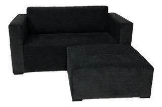 Sillon Sofa 2 Cuerpos+camastro Combo Chenille Puff Fabrica