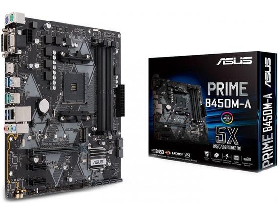 Placa Mae Asus Prime B450m-a Ddr4 Socket Am4 Chipset Amd B4