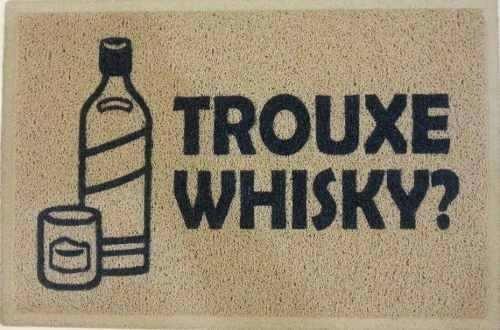 Tapete Capacho Personalizado Trouxe Whisky ? Borda Rebaixada