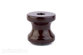 Roldana Louca Isolador 72 X 72 Porcelana Marrom Com 10 Peças