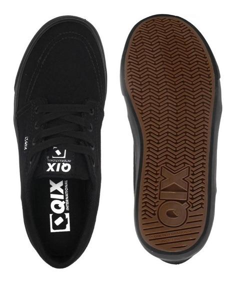 Tênis Da Marca Qix 100% Original Skat Preto Masculino + N F