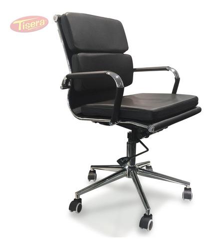 Sillon Aluminum Soft Negro Cuero Aluminium Bajo Codf81 Tisera