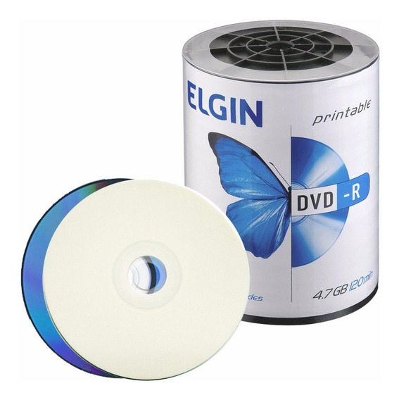 600 Midia Dvd-r Elgin 16x Printable