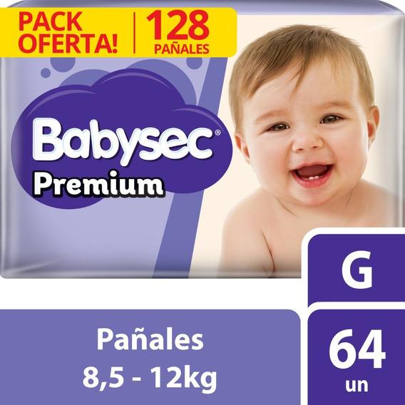 Pañal Babysec Premium Bipack G X128