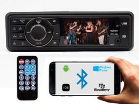 Mp5 Player Automotivo Veicular Bluetooth Fm Usb Tela 3 V75
