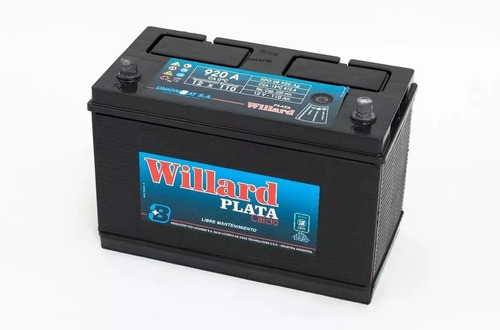 Imagen 1 de 6 de Bateria Willard 12x110 Ub920 Grupo Electrogenos Y Camiones