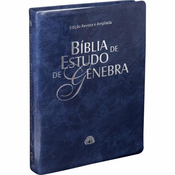 Bíblia De Estudo De Genebra - Luxo - Grande
