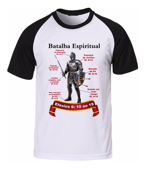 Camisa Camiseta Raglan Gospel Evangélica Batalha Espiritual