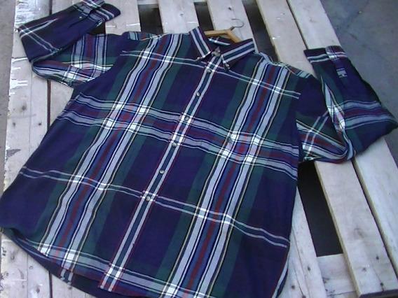 Camisa Náutica Vintage/retro Leñadora Logo Discontinuado