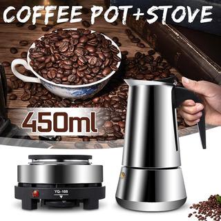 450ml 9 Copo Máquina De Café De Aço Inoxidável Fliter Máquin