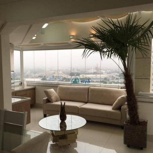 Cobertura Duplex Com 5 Dormitórios À Venda, 181 M² Por R$ 1.699.000 - Centro - Santo André/sp - Co0994