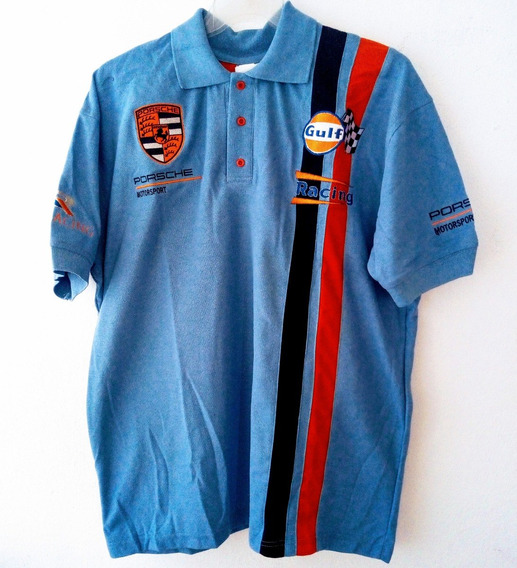 Playera Polo Porsche Gulf Motorsport Racing Caballero 2xl