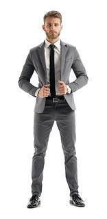 Trajes Entallados Hombre Saco Chupin Camisa Zapato Y Cinto