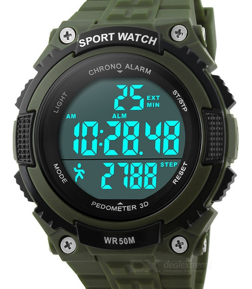 Skmei 1112 50m Waterproof Outdoor Sports Watch W/ Pedometer