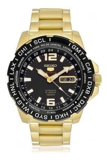 Relógio Seiko 5 Automático Folheado Srp690b1 P2kx