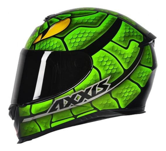 Capacete Moto Axxis Eagle Snake Verde Motociclista Motoqueiro