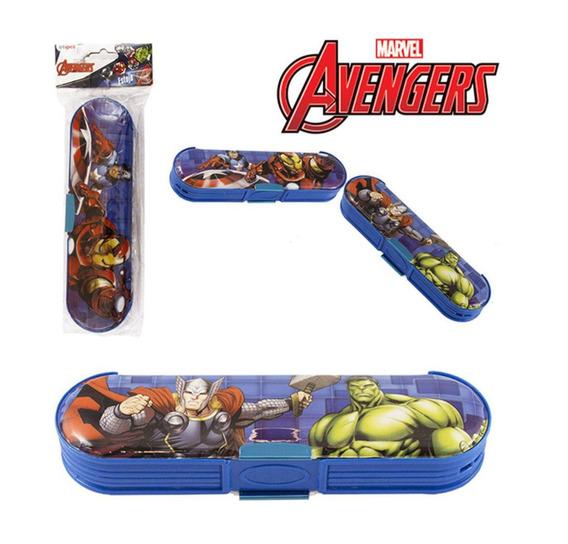Estojo Escolar Oval Com Duas Divisórias Avengers